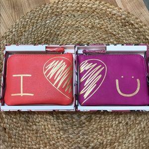 """Vera Bradley """"I Love ❤️ You"""" Pouch Set-NWT"""